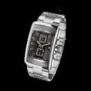 Chronograph Energie Vitale, stainless steel, chronograph, quartz movement, steel bracelet