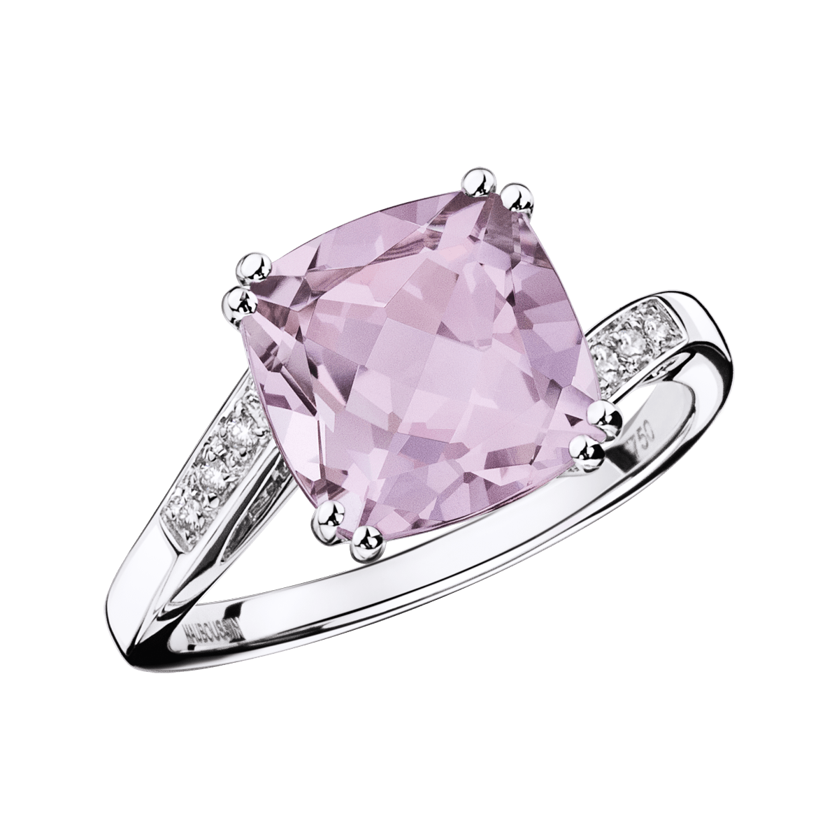 Mome Je T Aime Ring White Gold Rose De France And Diamonds By