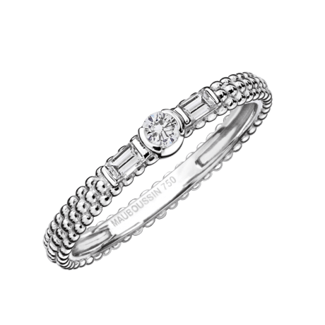 Amour je t'aime Ring, white gold and diamonds