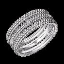 Ring Le Premier Jour, white gold, 1 row of diamonds