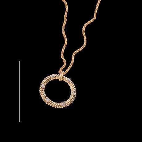Le premier jour Necklace, pink gold and diamonds