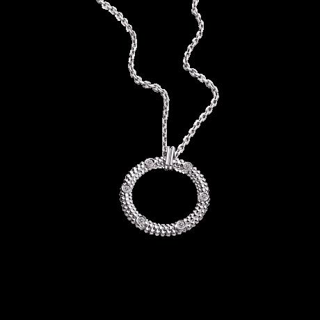Le premier jour Necklace, white gold and diamonds