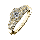 Chance of Love N°2 Ring, yellow gold and diamonds