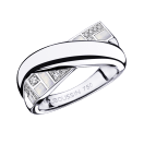En Corps et Encore Ring, white gold, white mother-of-pearl and diamonds