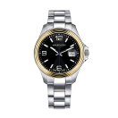 Watch Homme d'audace, yellow gold, steel strap, sapphire winder