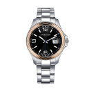 Watch Homme d'audace, pink gold, steel strap, sapphire winder