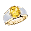 My First Madame Ring, yellow gold, citrine and white mother of pearl