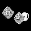 Earrings Love my Love N.1, white gold and diamonds