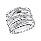 Kiff & Kiss Ring, white gold and diamonds