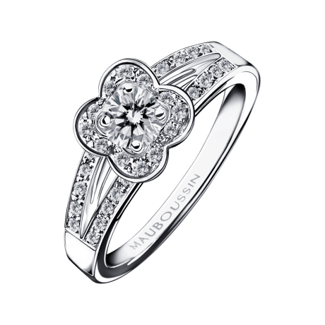 Chance of Love N°3 Ring, white gold and diamonds