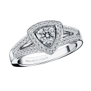 Dream & Love ring, white gold, diamonds 0,20 carat approximatively, diamond pave