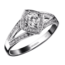 Love my Love N°3 Ring, white gold and diamonds