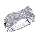 En Corps et Encore Ring , white gold, paved diamonds