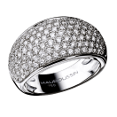 C'est Toi La star Ring, white gold and diamonds