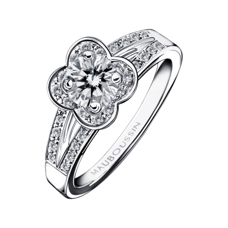 Chance of Love N°5 Ring, white gold and diamonds