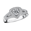 Dream & Love ring, white gold, diamond 0,50 carat approx, diamonds pave