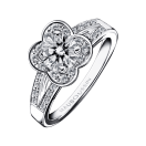 Chance of Love N°7 Ring, white gold and diamonds