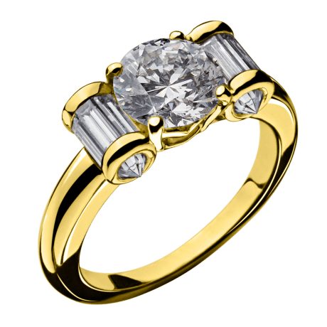 Ring Olympe yellow gold, diamonds
