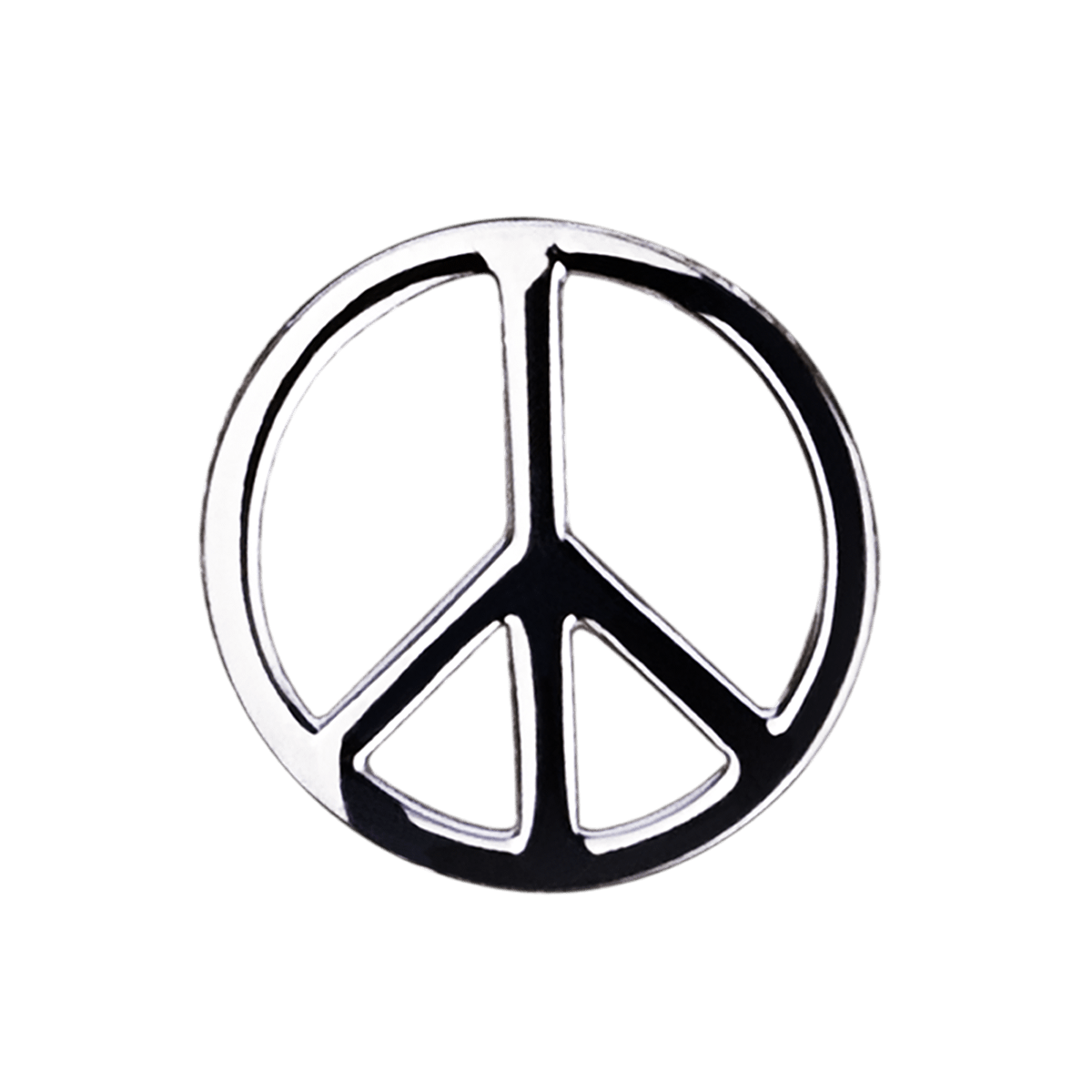 Removable Peace Symbol In White Gold By Mauboussin