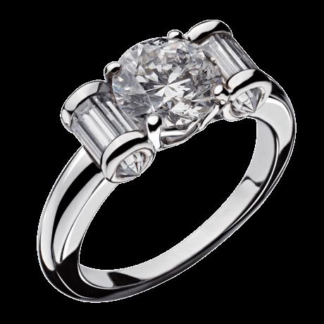 Ring Olympe white gold, diamonds