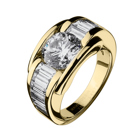 Ring Alessandra, yellow gold and diamonds