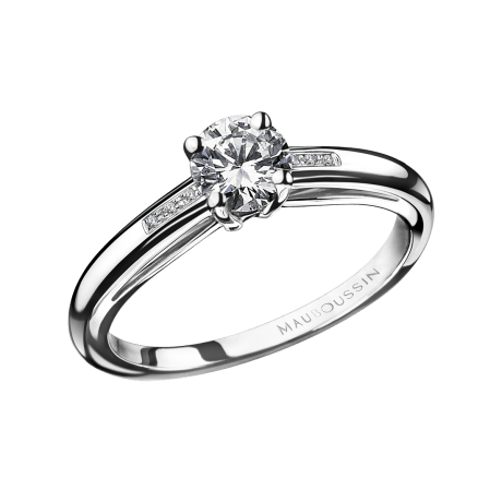 Ring Tu es le Sel N°5, white gold, diamonds