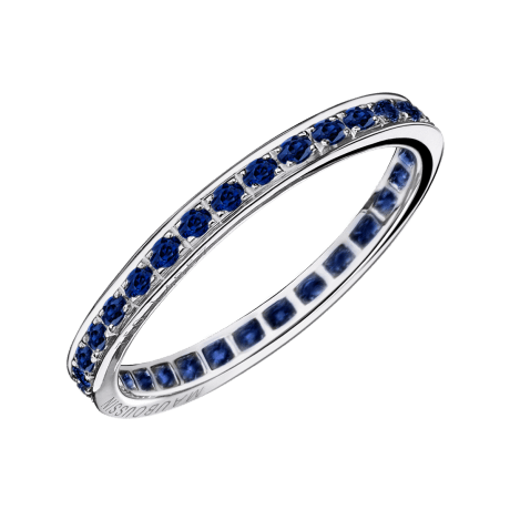 Sex and love wedding band, sapphires, white gold