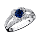 Sex and Love ring, Sapphires, white gold