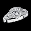 Dream & Love ring, white gold, diamond 0,30 carat approx, diamonds pave