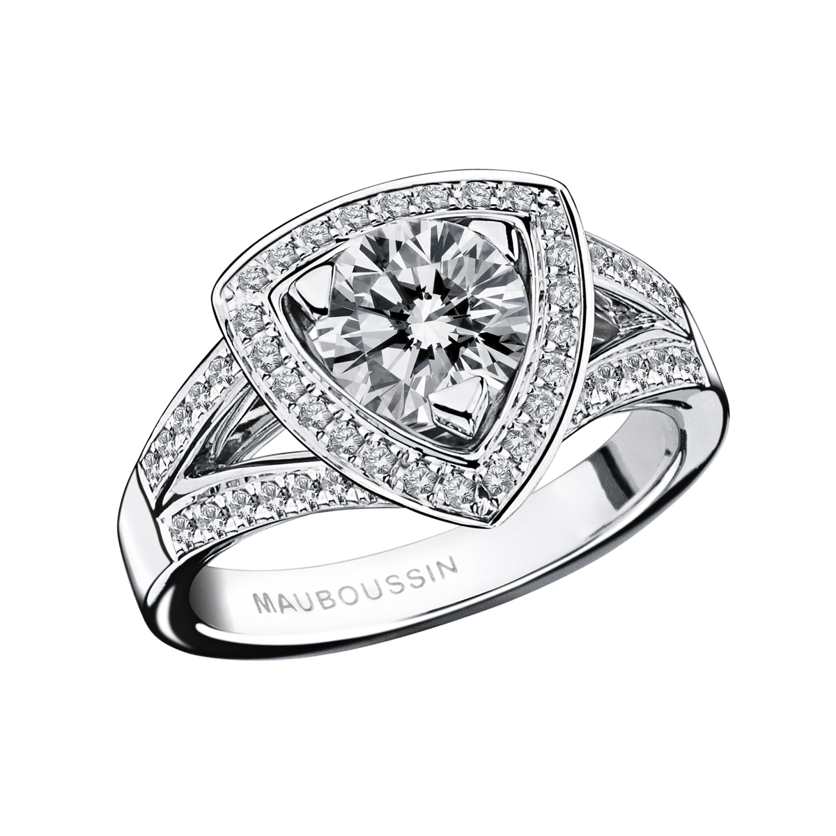 dream love ring white gold diamond 1 carat approx by mauboussin singapore. Black Bedroom Furniture Sets. Home Design Ideas
