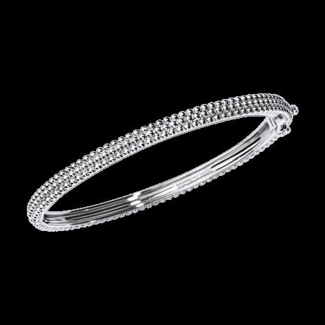 Bracelet La Menotte d'Amour du Premier Jour, white gold
