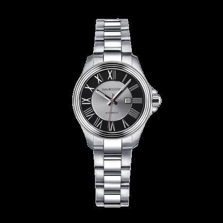 Watch L'Heure de Paix, small model, automatic, steel bracelet