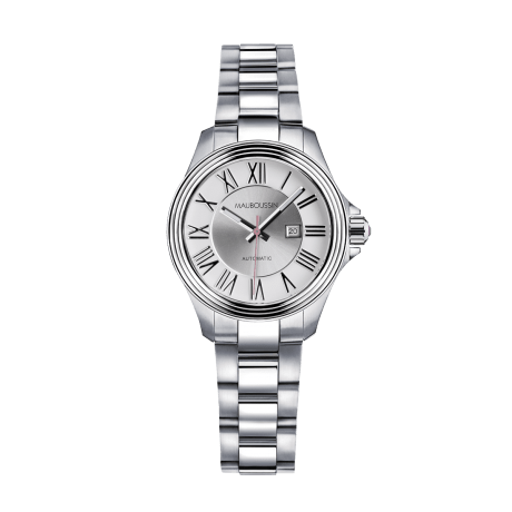 Watch L'Heure de Paix, small model, automatic, steel bracelet