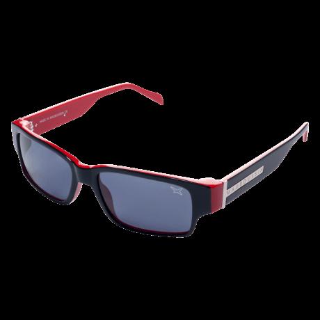 SUN 9 (Sunglasses, acetate, black red)