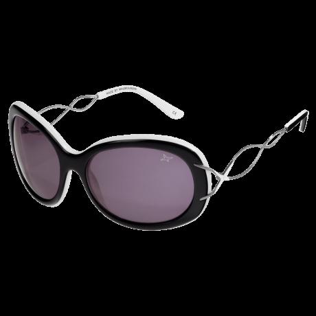 SUN 37 (Sunglasses, acetate, black - white)