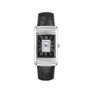 Watch Femme Vitale du Premier jour, stainless steel, quartz movement, black leather strap