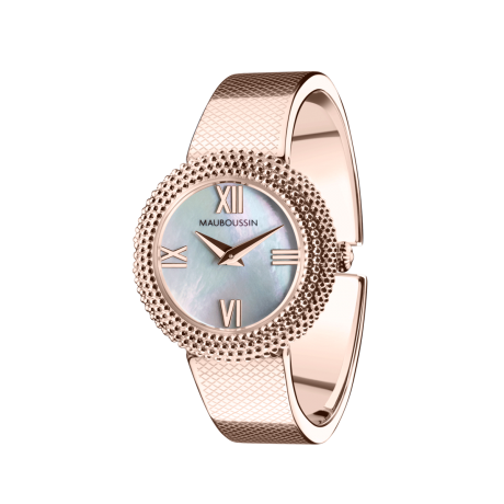 Watch L'Heure du Premier Jour, stainless steel in pink gold tint, quartz movement