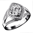 Love my Love N°10 Ring, white gold and diamonds