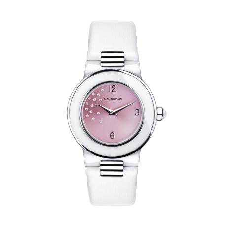 Amour le Jour timepiece, pink dial