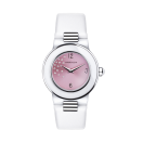 Amour le Jour timepiece, pink dial with diamonds