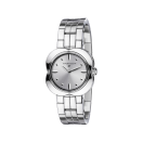 Chance Day watch, stainless steel and silver sunray dial
