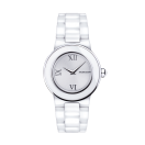 Amour le Jour watch, in white ceramic