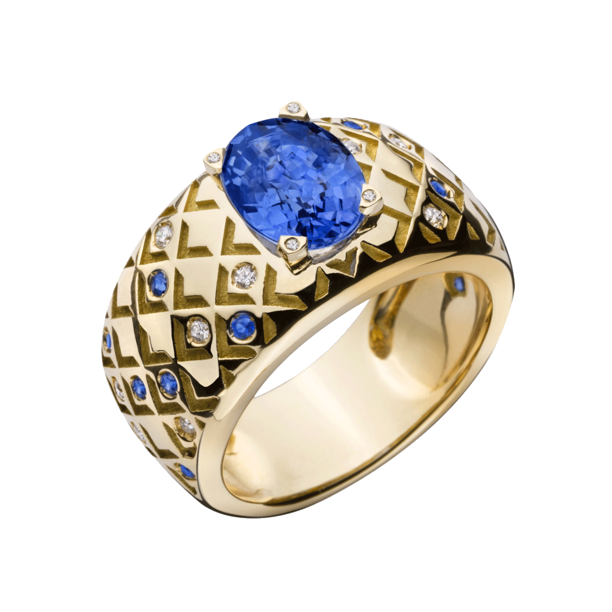 with silver style sapphire blue zirconia ring round product a classic large cut cubic