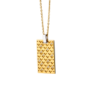 Salome pendant, gold, diamonds and silver