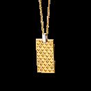 Salome pendant, gold, diamonds and silver