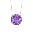 Couleur d'Amour pendant, white gold, amethyst, diamonds and rubies
