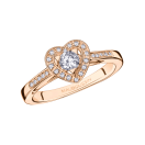 Ring Love Touch, rose gold and diamonds