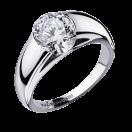 Swan Ruban ring, white gold, 0,50ct diamond
