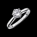 Six de Toi engagement ring, white gold, 0,50ct diamond