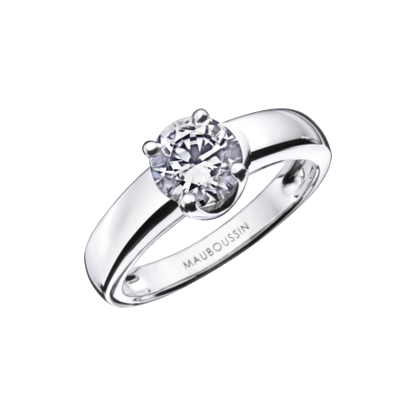 Felicity ring, white gold, 0,50ct diamond